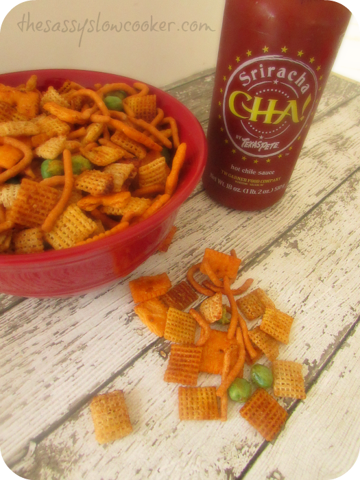 Sweet and spicy snack mix recipe made in the slow cooker!