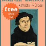 FREE Martin Luther Inspiration Copywork Printable Set