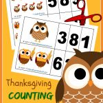 FREE Thanksgiving Counting Cards!