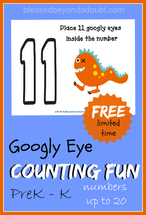 image relating to Printable Googly Eyes known as No cost Googly Eye CountingPreK and K math printables