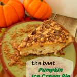 frosty pumpkin ice cream pie