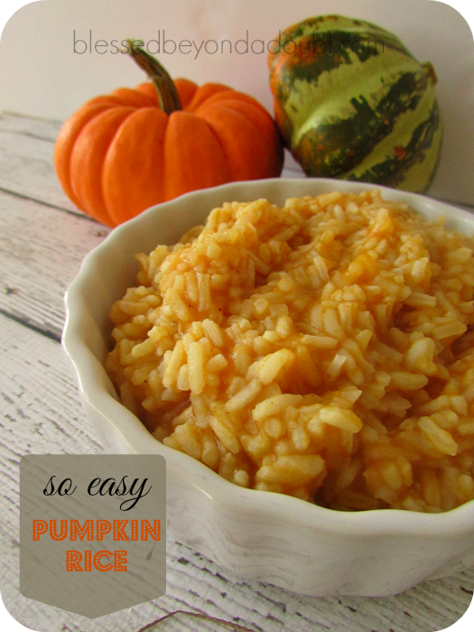 EASY Recipe Pumpkin Rice