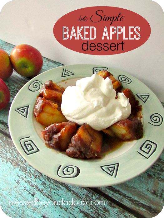 simple baked apples