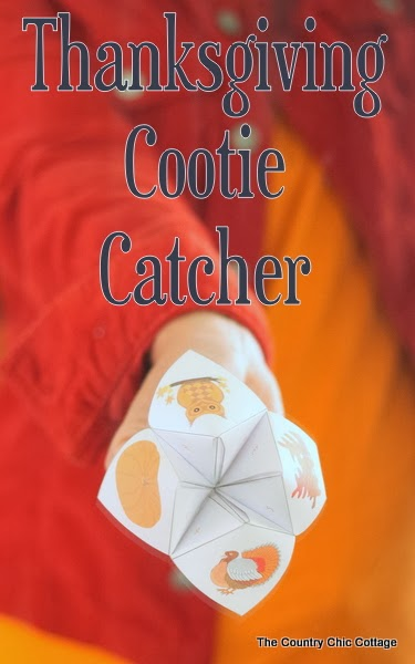 thanksgiving cootie catcher