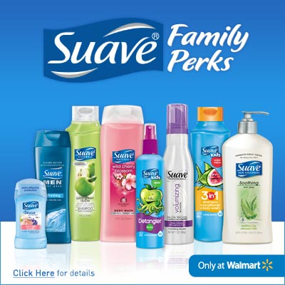You now can get rewarded for purchasing Suave products at Walmart. Earn points that are redeemable for a $5 Walmart gift card!