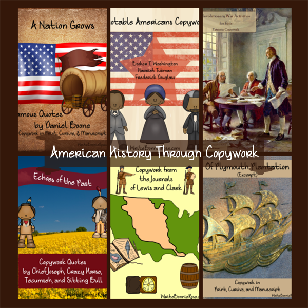 American History Through Copywork SALE