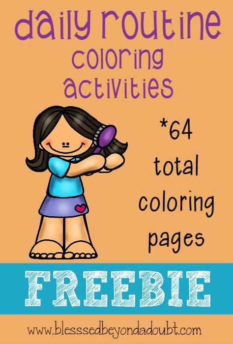 Daily Routine Coloring Activities Freebie on Personal Hygiene Coloring Pages