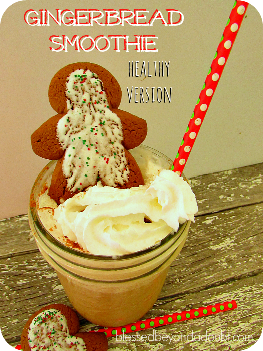 healthy gingerbread smoothie