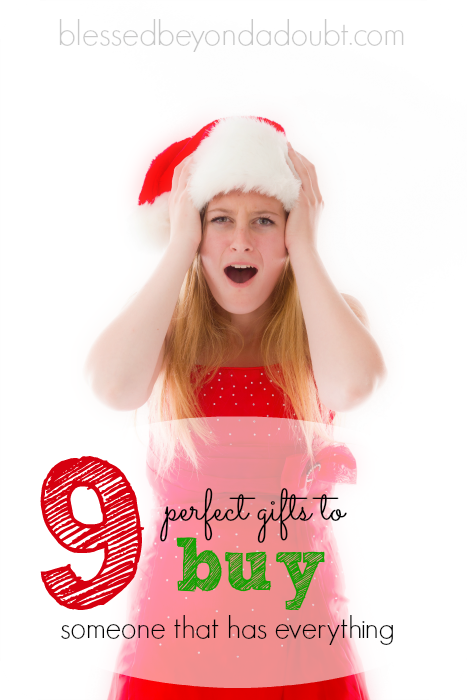 These are 9 gifts that are perfect for the person who has everything. I love #3!