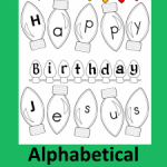 FREE Alphabetical Advent Calendar!