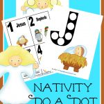 Hurry and grab these FREE Nativity Do a Dot printables!