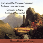 The Last of the Mohicans Copywork