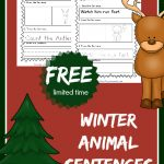 FREE Winter Animal Sentences! FUN way to master the sentence.