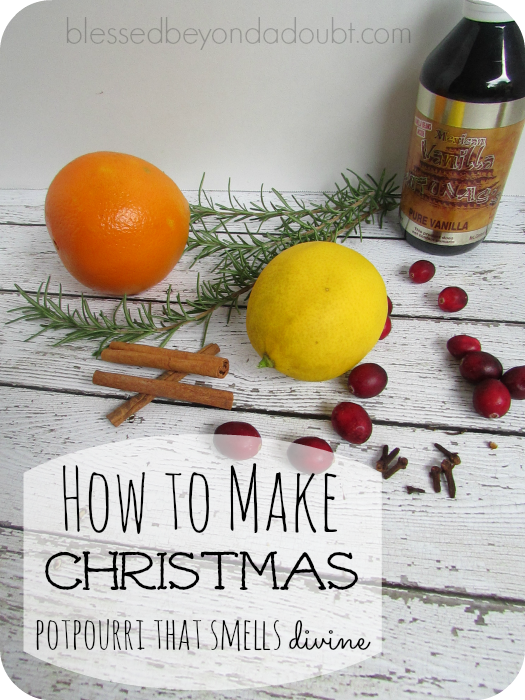 how to make Christmas potpourri