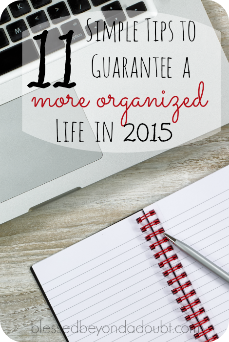 my organized lifestyle 2015