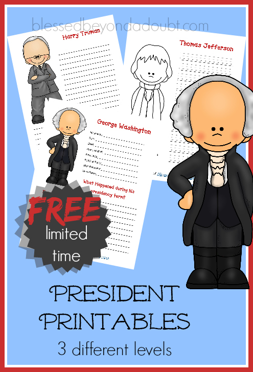 presidents printables