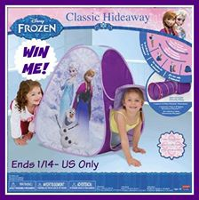 Win this FUN Frozen Hideaway Tent !