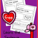 FREE Learn the sentence Valentine's edition! Super cute!