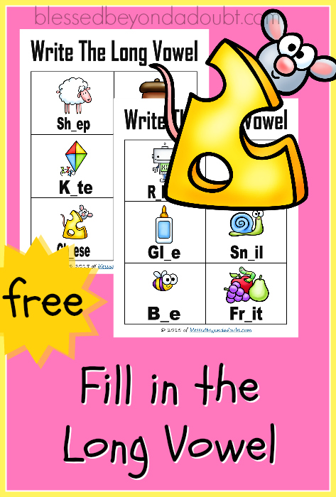 Long Vowel Sounds Worksheets! There FREE!