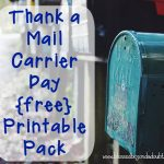 Thank a Mail Carrier Day is coming up Feb 4th!! Use these fun printables to tell your wonderful mailcarrier thanks!! :: www.blessedbeyondadoubt.com