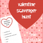 FREE Valentine Scavenger Hunt Printable! Super FUN!