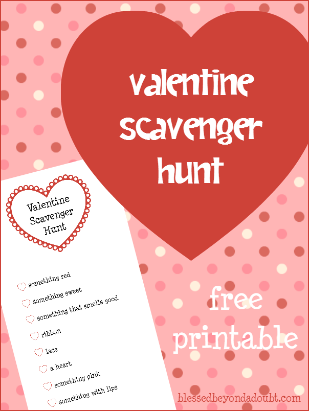 valentine's day scavenger hunt|it's free!, Ideas