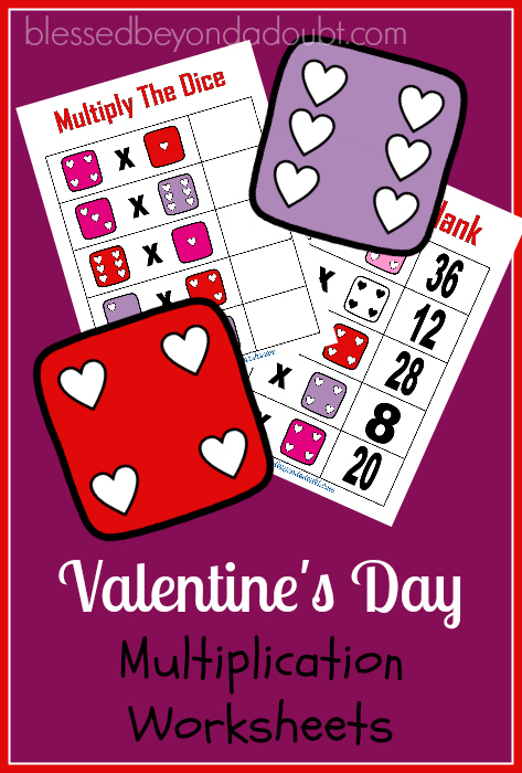 FREE Multiplication Valentines Worksheets