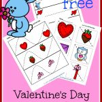 Have your child master cutting with this FREE Valentines Scissor Packet!