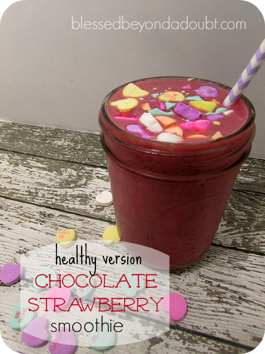 chocolate strawberry smoothie recipe