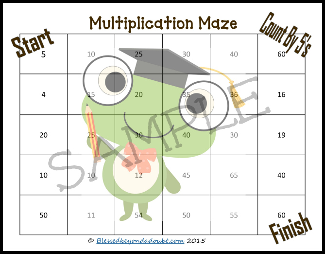 multiplication math sheets