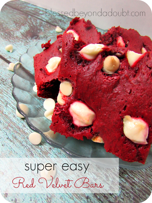 ooey gooey red velvet bars