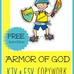 FREE Armor of God Copywork! Have your children illisturate, trace, copy, and memorize Ephesians 6:10-20.