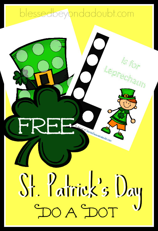 FREE St. Patrick's Day Do a Dot! So cute and festive!
