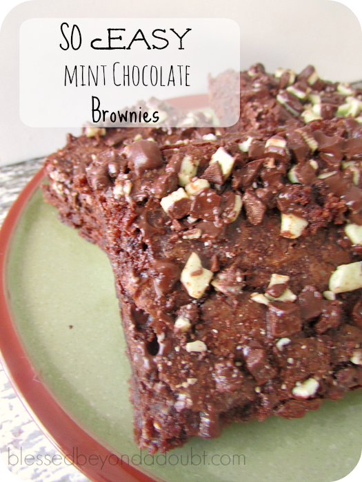 quick mint brownies