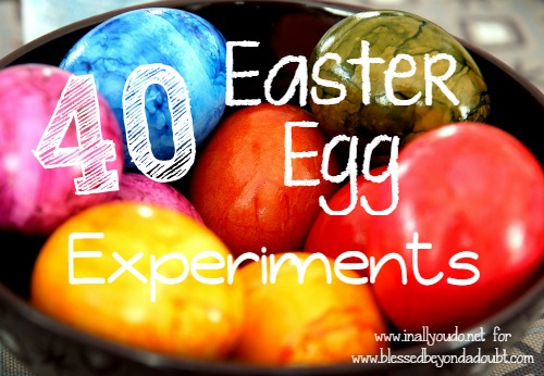 Kids will have a lot of fun with these 40 Easter Egg Experiments perfect for kids of all ages!! :: www.blessedbeyondadoubt.com