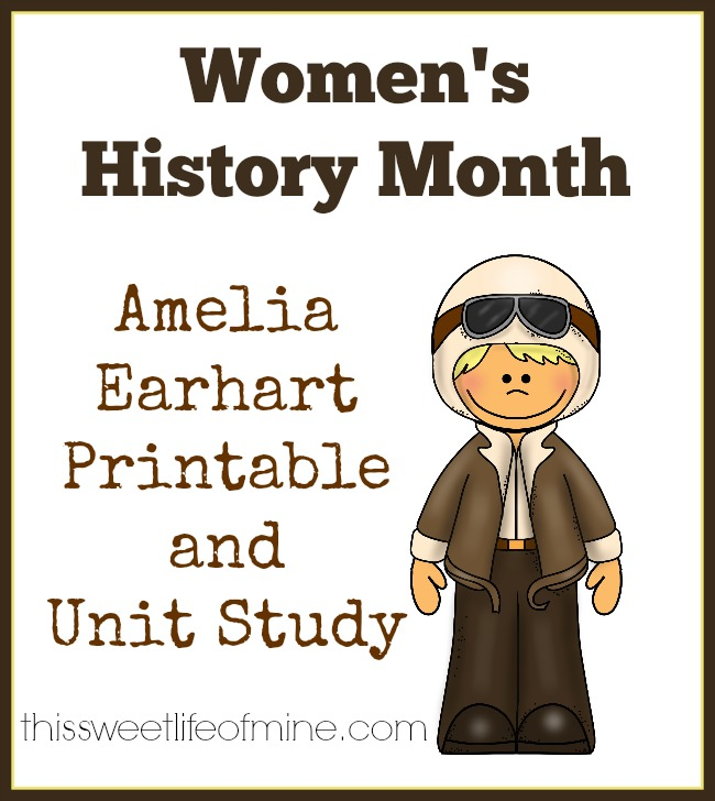 Free Amelia Earhart Printable for Women's History Month