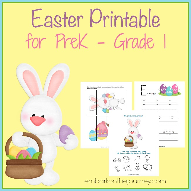 FREE Easter Printable for PreK – Grade 1