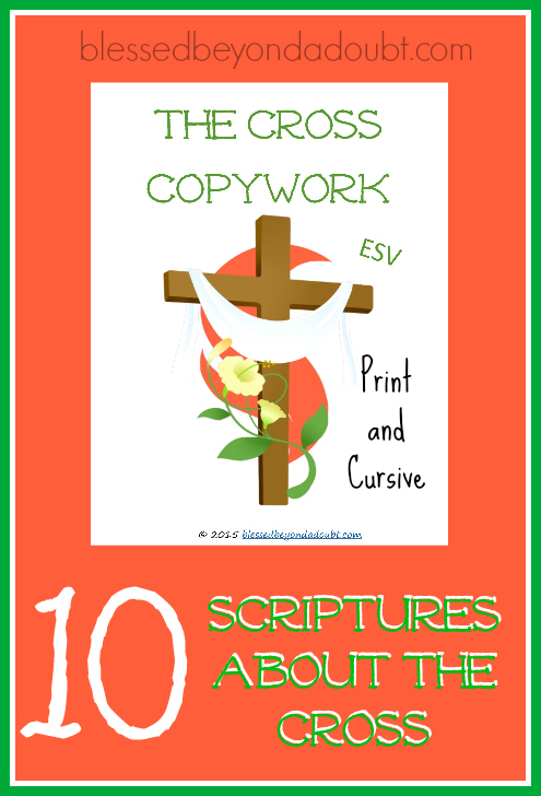 Scriptures about the cross