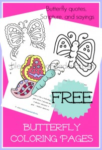 FREE Butterfly Coloring Sheets Fun for all ages