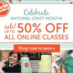National Craft Month 50 % Off Sale!