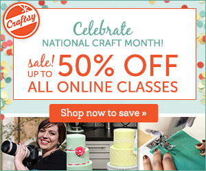 Craftsy is having a HUGE 50% sale for National Crafts Month!