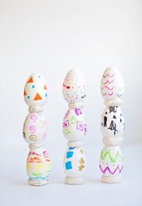 doodle art eggs