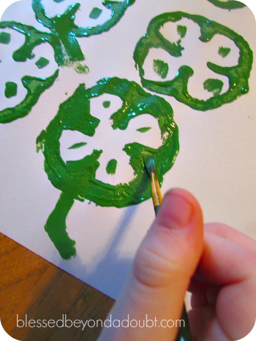 st patricks day craft shamrock