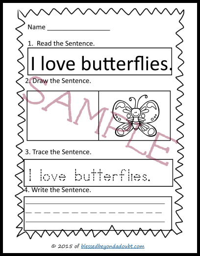 Grab these fun spring worksheets and have your child practice writing a sentence. #homeschoolprintables #sentencestarters #homeschool