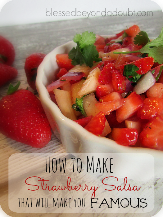 strawberry breakfast salsa recipe