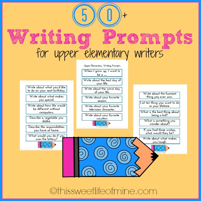 narrative essay prompts for elementary