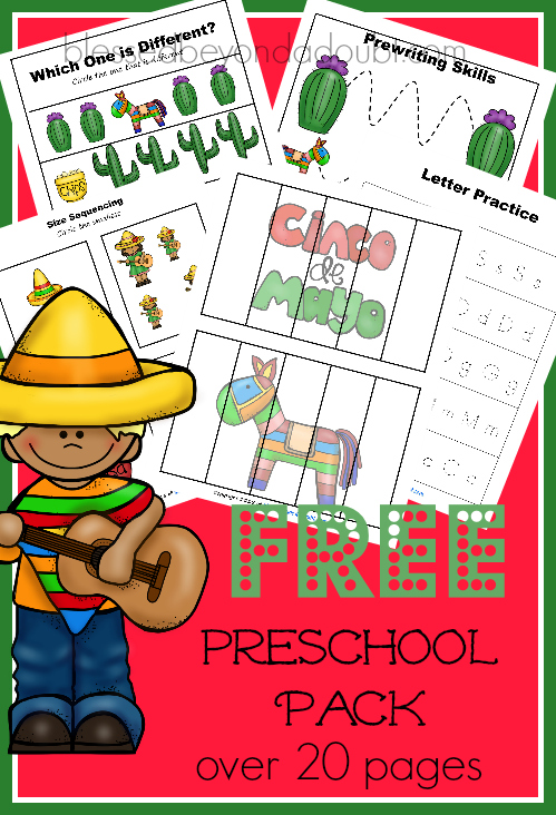cinco de mayo activities for preschoolers free cinco de mayo preschool pack 20 pages 457