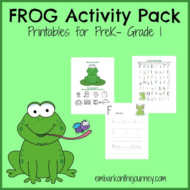 FREE Frog Activity Pack for Little Learners!