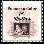 Poems to Color for Mother