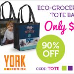 Personalized Eco-Grocery Tote Bags are $1!